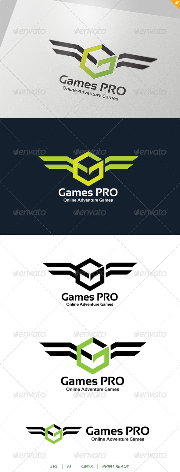 GraphicRiver Game Pro Adventure Online Games Logo 4177337