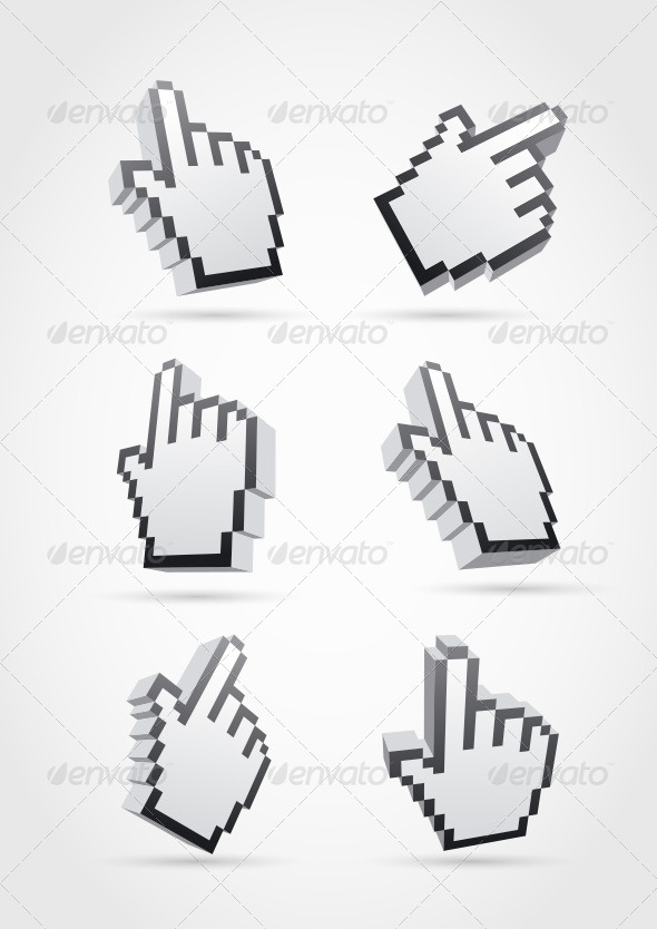 GraphicRiver Cursor Hand Collection 4177346