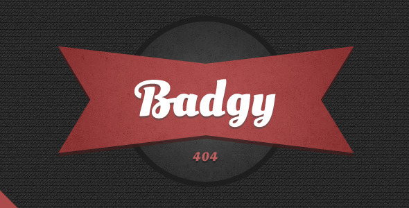 Badgy Error Page - 404 Pages Specialty Pages