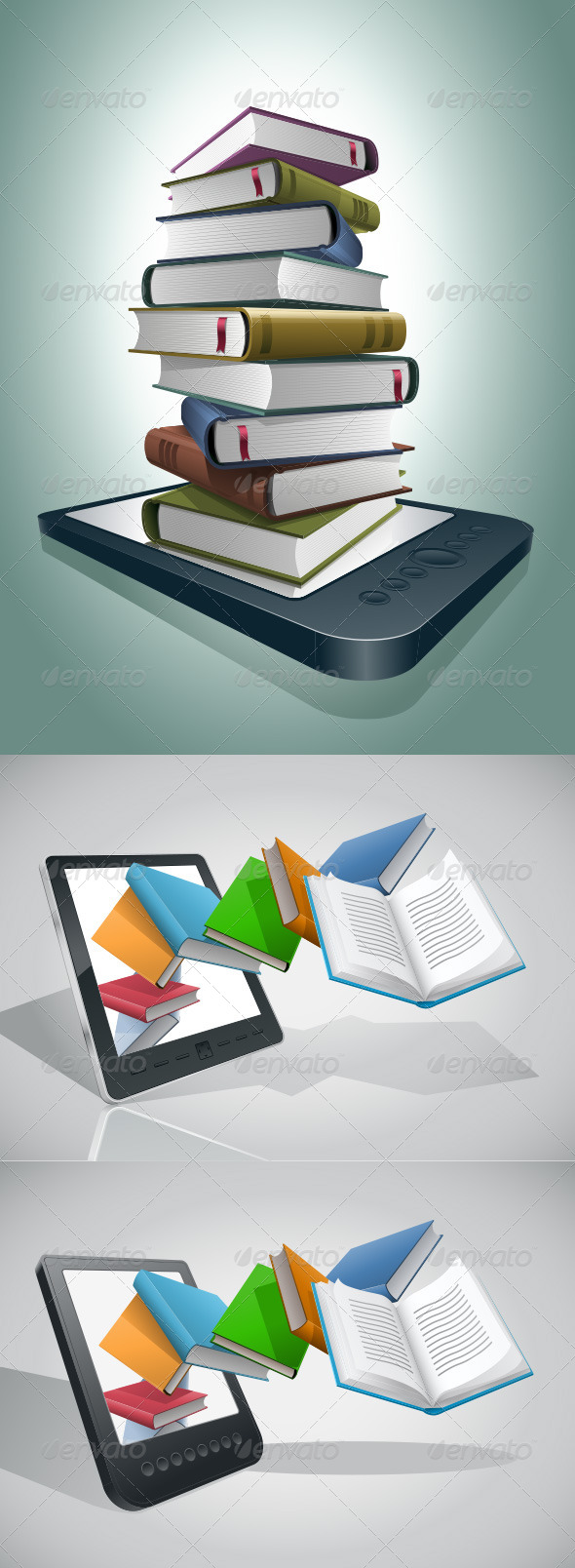 GraphicRiver E-book Reader And Books Collection 4177504