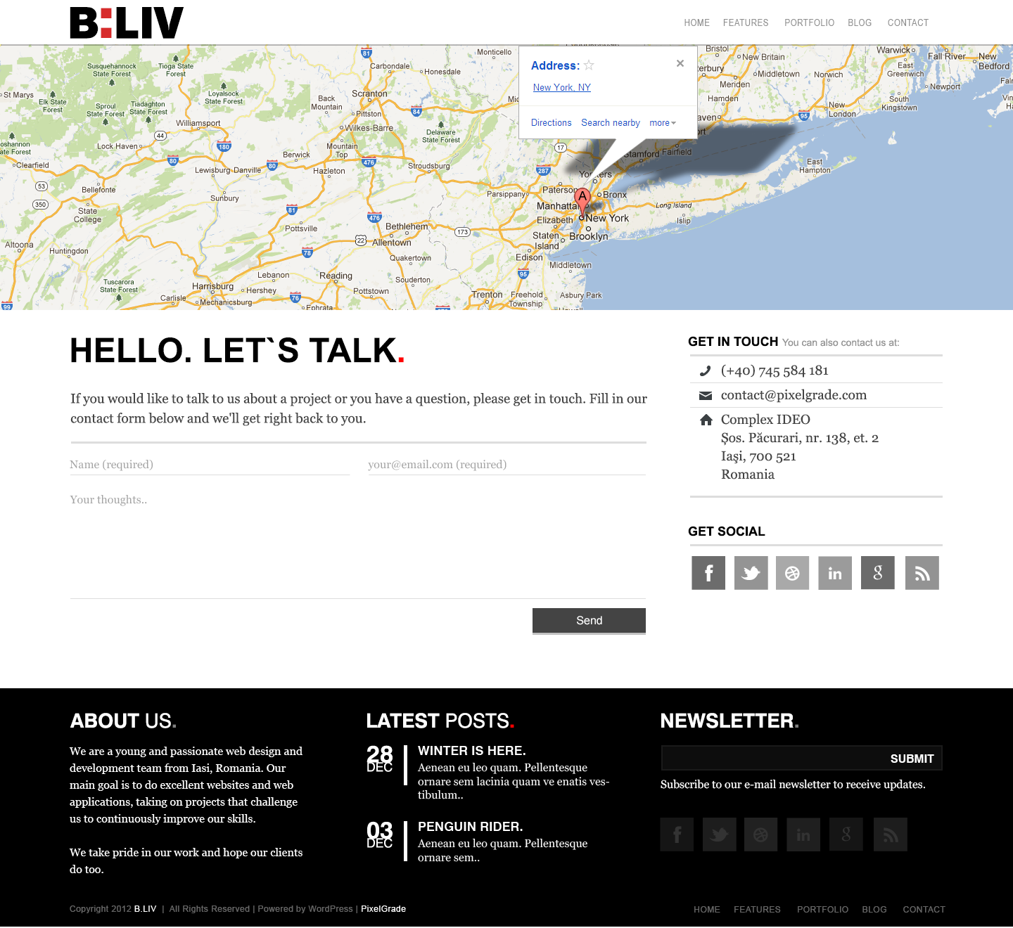 B:LIV - Responsive Minimal Wordpress Theme