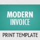 Modern Invoice Template - GraphicRiver Item for Sale