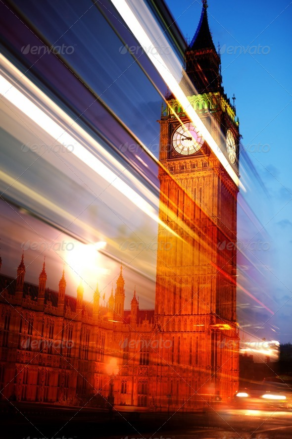 London in motion - Stock Photo - Images