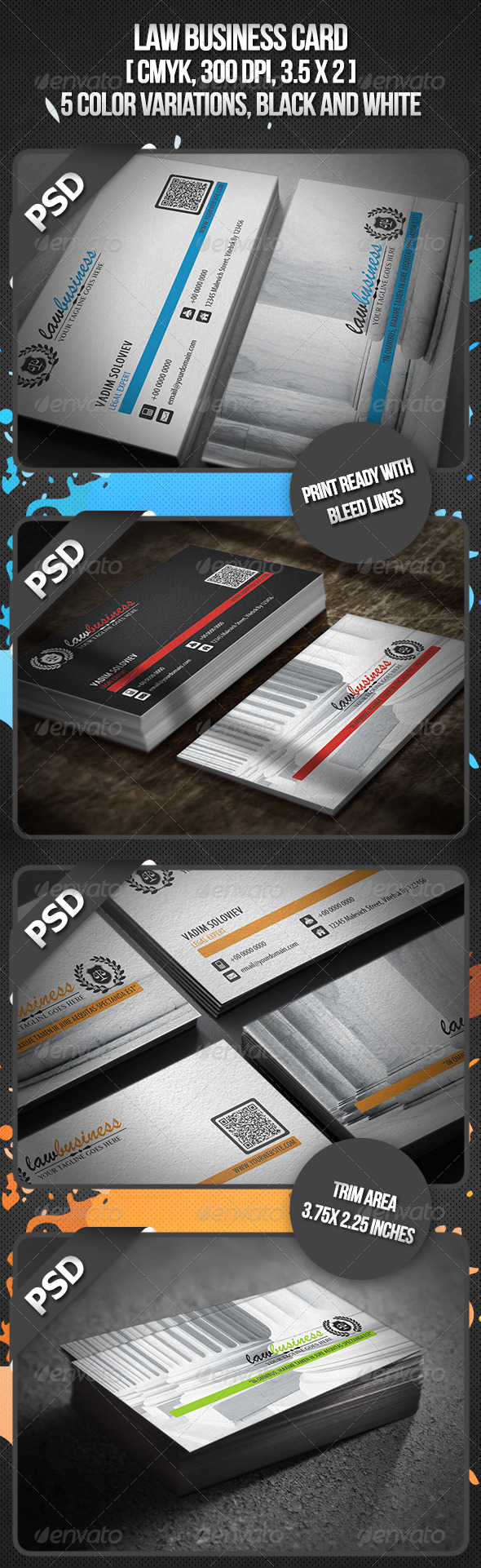 Law Business Card - Industry Specific Business Cards