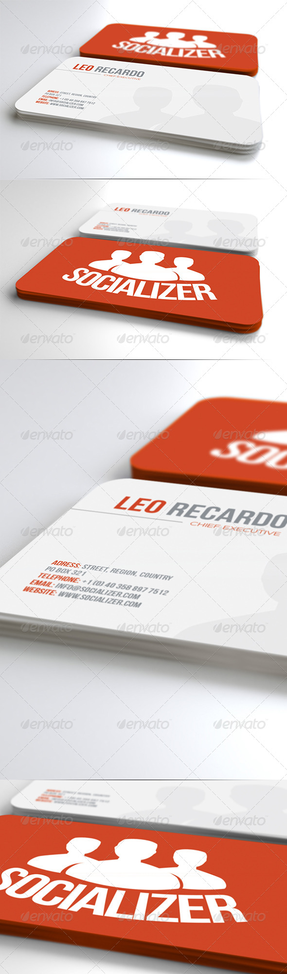 Social Business Card - Corporate Business Cards