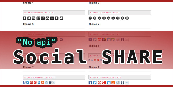 No Api Social Sharing - CodeCanyon Item for Sale