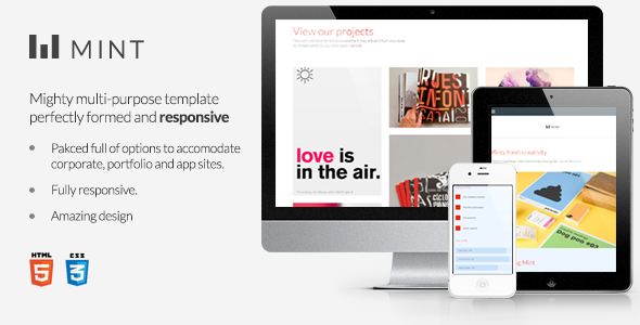ThemeForest Mint Mighty Multi-Purpose Template 4180644