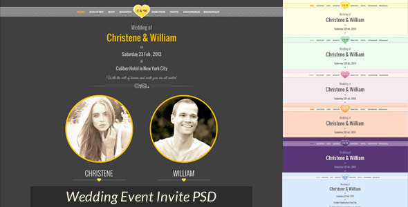 Wedding Event Invite PSD - Miscellaneous PSD Templates