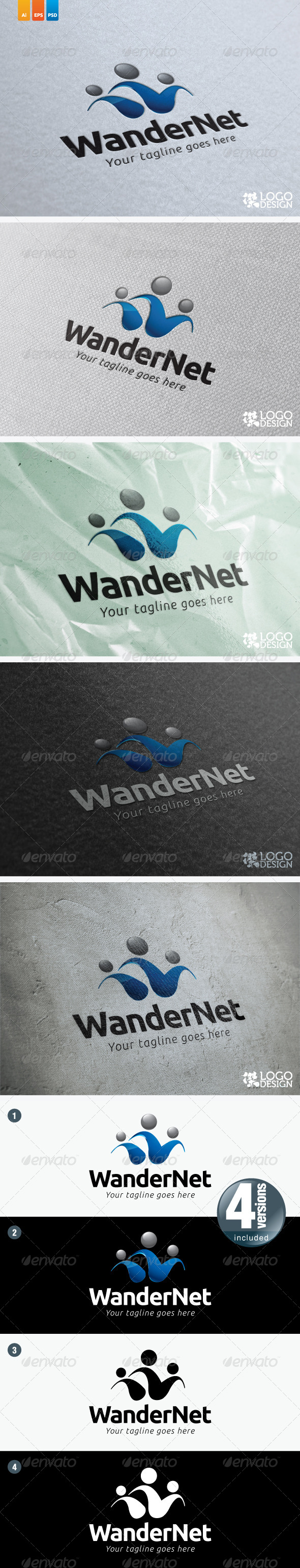 WanderNet - Humans Logo Templates