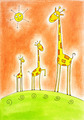 Three happy giraffes, illustration - PhotoDune Item for Sale
