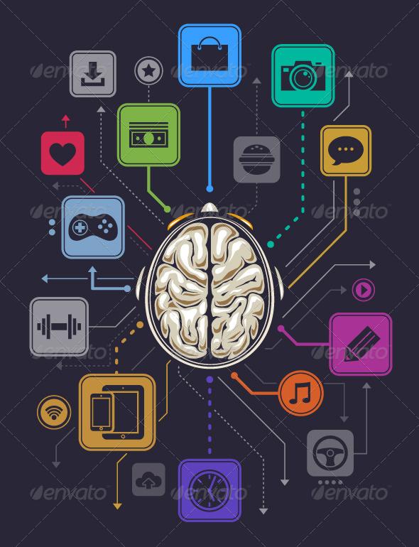 GraphicRiver Brain Activity Infographics 4182172