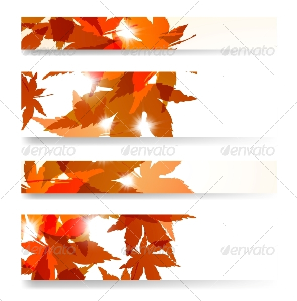GraphicRiver Autumn Banner Set 4182377