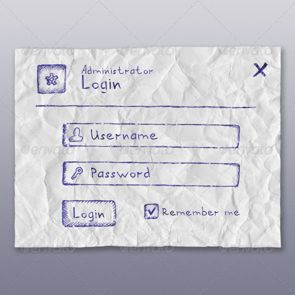 GraphicRiver Web App Login Form BallPen 4182451