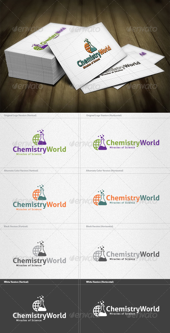 GraphicRiver Chemistry World Logo 4183805