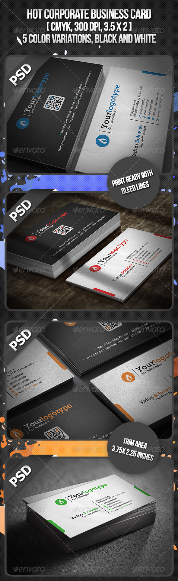 Hot Corporate Business Card - Corporate Business Cards