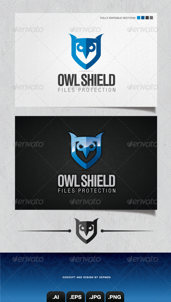GraphicRiver Owl Shield Logo 4102933