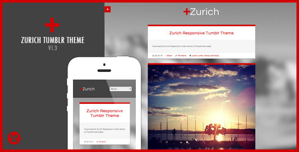 Zurich Responsive Tumblr Theme - Blog Tumblr