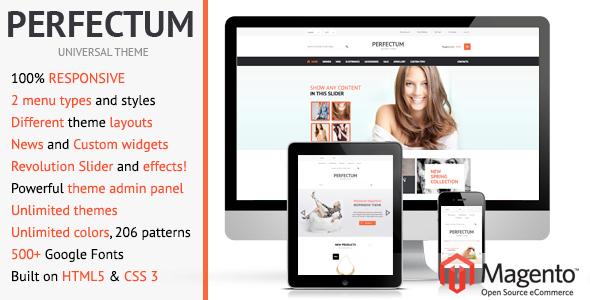 ThemeForest Perfectum Premium Responsive Magento theme 4186898