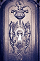 Figures carved door , with knocker, black &amp;amp; white - PhotoDune Item for Sale