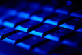 Computer keyboard in blue light. - PhotoDune Item for Sale