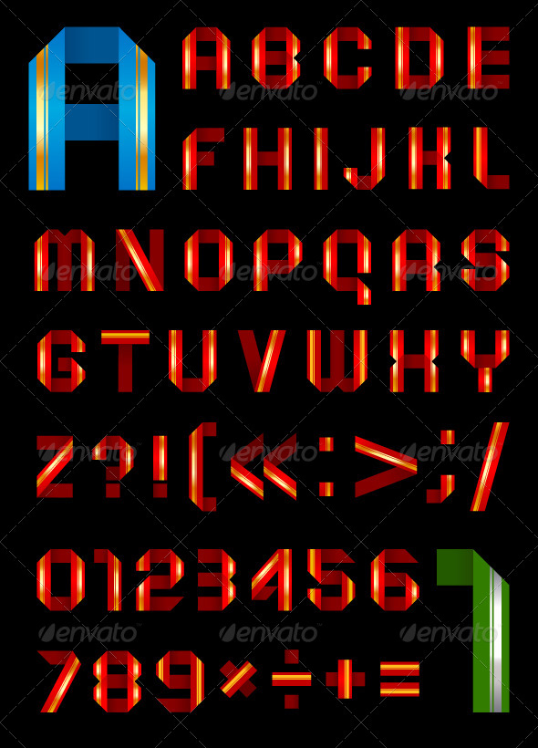 GraphicRiver Font From a Color Paper Tape 4188532
