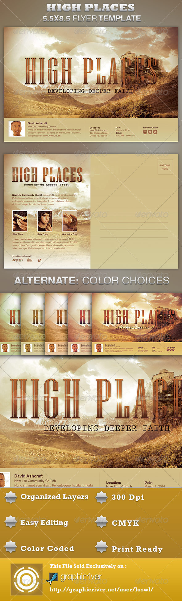 GraphicRiver High Places Church Flyer Template 4188873