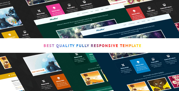 Moonrise bootstrap html template -