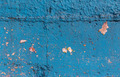 Blue painted cement wall with paint chipping - PhotoDune Item for Sale