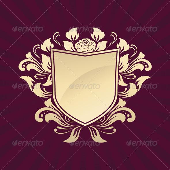GraphicRiver Shield Ornament Rose 4190046