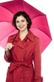 Fashionable young model posing with an umbrella - PhotoDune Item for Sale