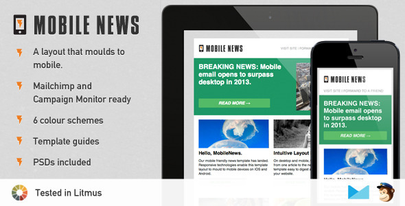 ThemeForest Mobile News A Responsive Newsletter Template 4151887
