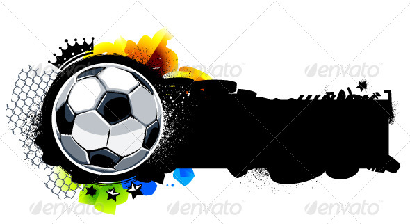 GraphicRiver Graffiti Image with Soccer Ball 4190729