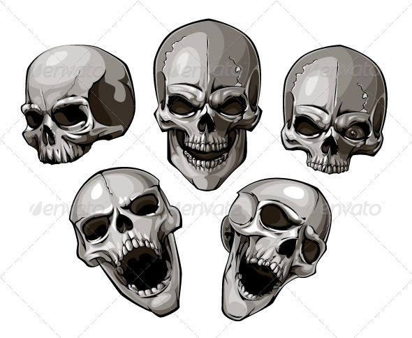 GraphicRiver Set of skulls 4190732