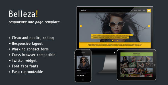 Belleza - Responsive Portfolio Template - Screenshot 1