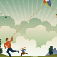 Kite Flying - GraphicRiver Item for Sale