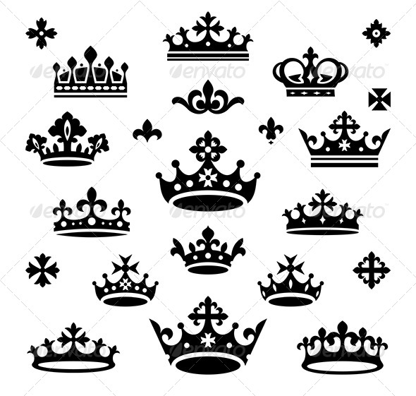 GraphicRiver Set of Crowns 4191865