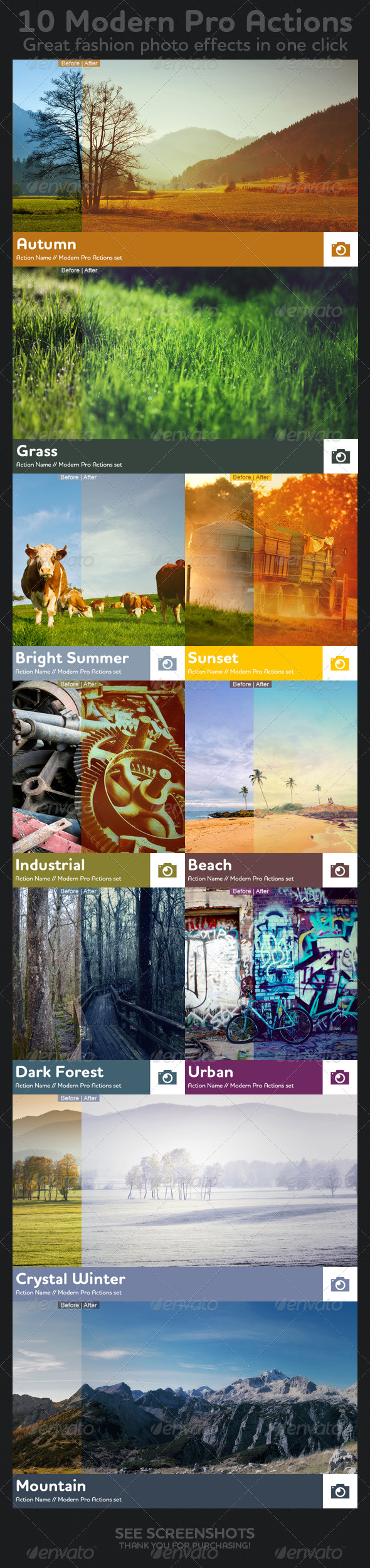 GraphicRiver 10 Modern Pro Actions 4142213