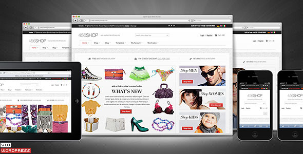 456Shop eCommerce WordPress Theme