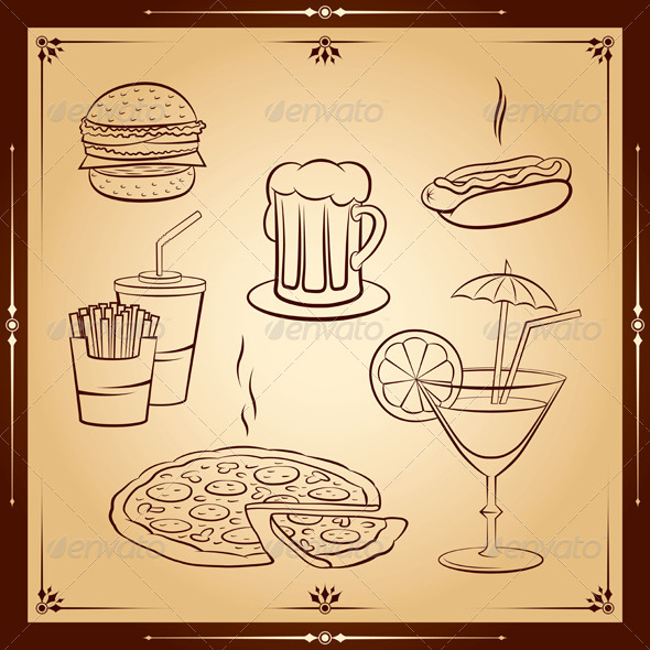 GraphicRiver Fast Food Icon Set 4199096 Created: