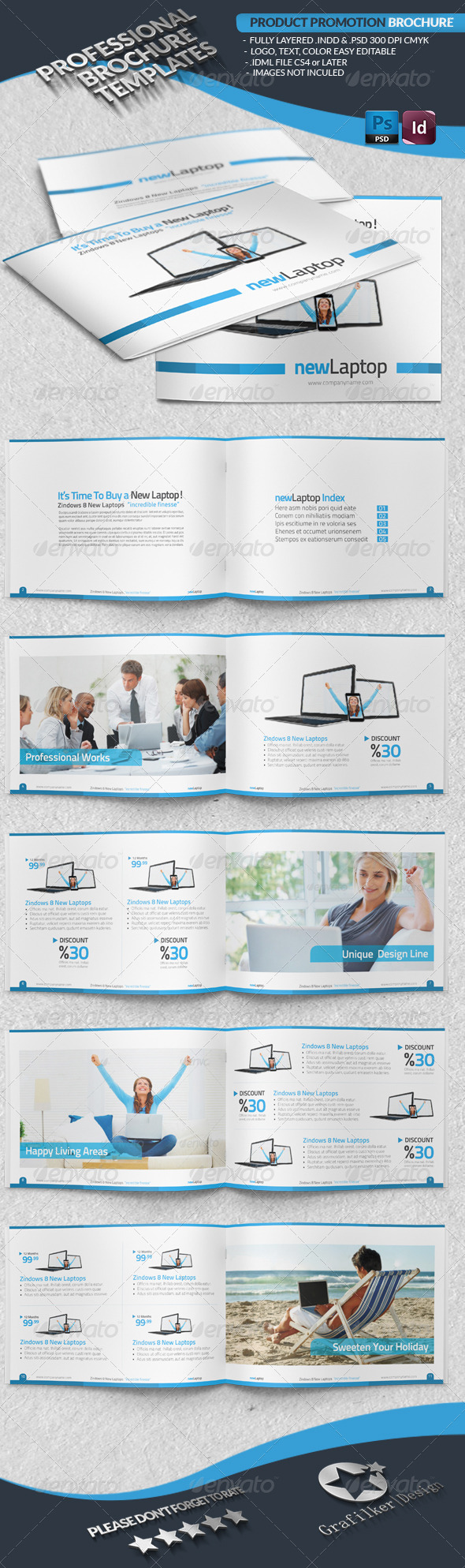 Product Promotion Brochure - Brochures Print Templates