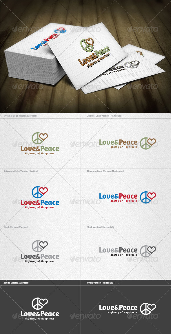 GraphicRiver Love & Peace Logo 4199277