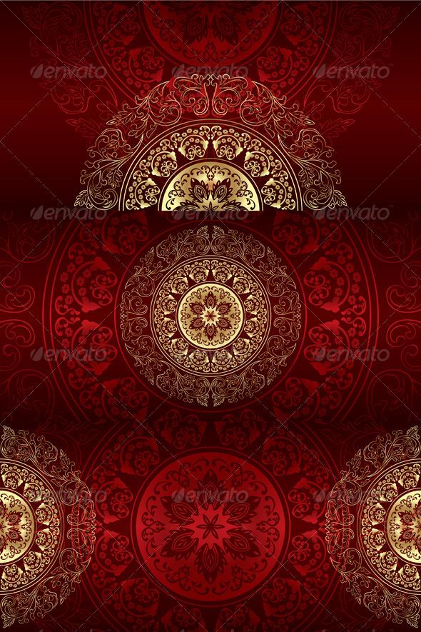 GraphicRiver Set of Vintage Floral Backgrounds 4199609