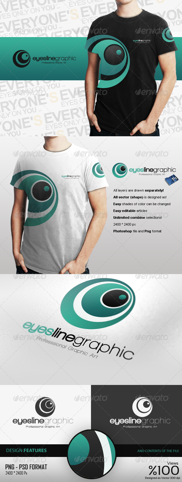 Eyeslins Graphic Logo Design - Logo Templates