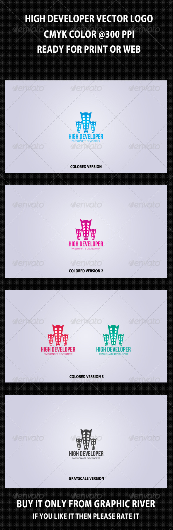 GraphicRiver High Developer Logo Template 4199921