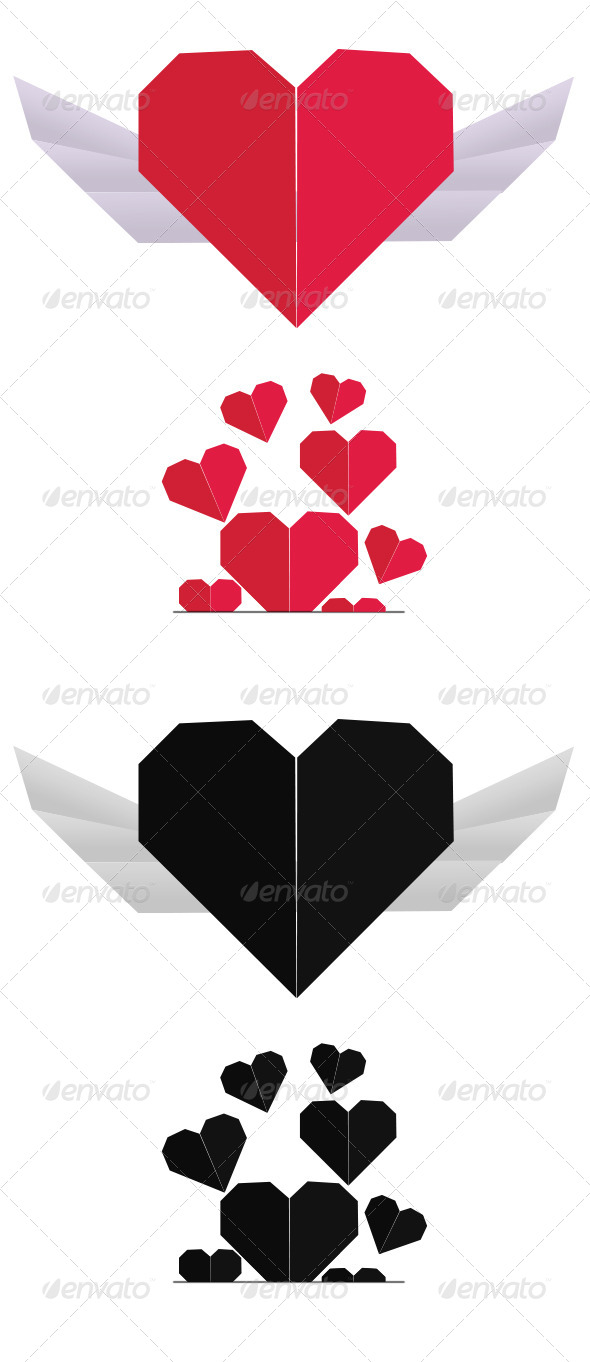 GraphicRiver Winged Heart Heart Pocket 4107677