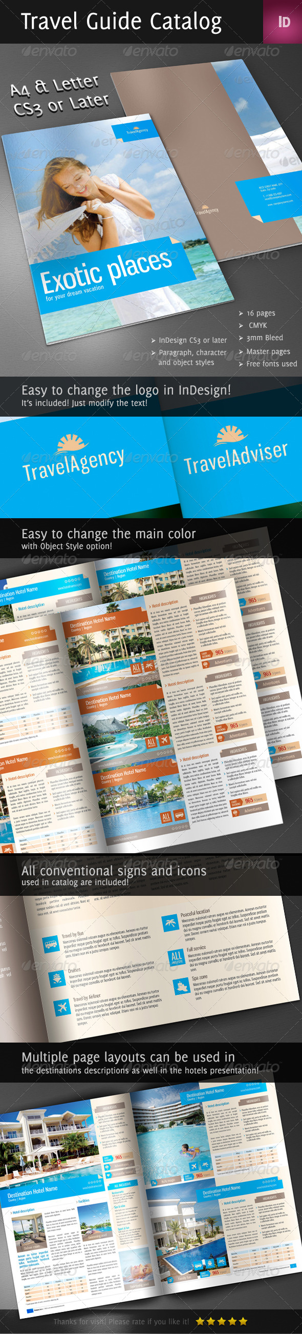 GraphicRiver Travel Guide Catalog 4028374