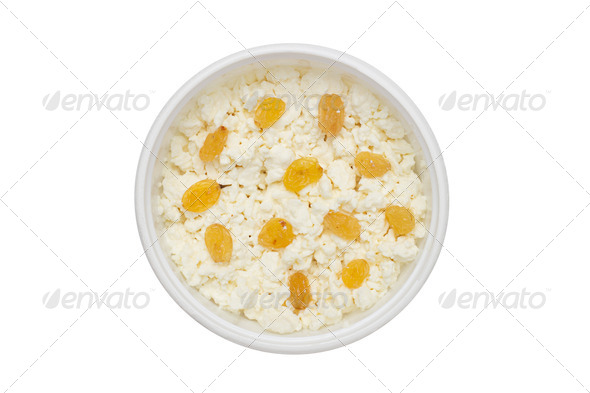 PhotoDune cheese in plastic container with raisins 4253963