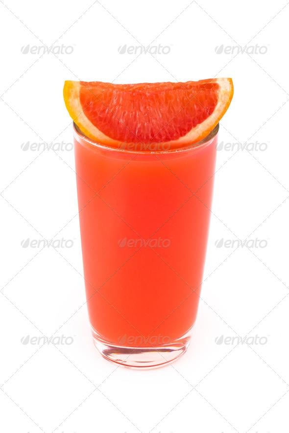 PhotoDune Grapefruit juice glass Isolated on white background 4253997
