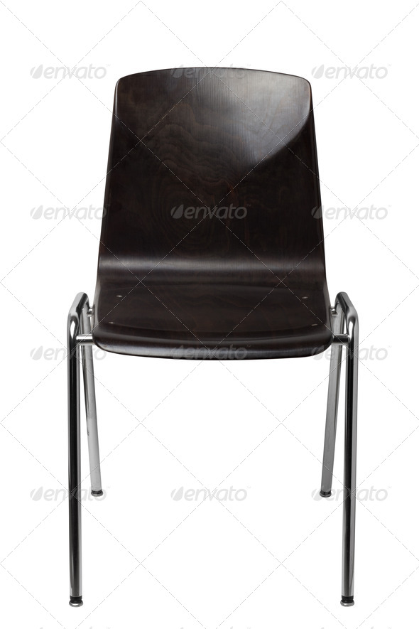 PhotoDune Black chair isolated on a white background 4254026