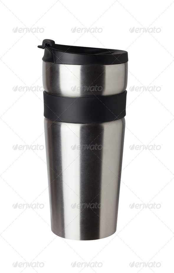 PhotoDune Thermos travel tumbler cup Closeup 4254050